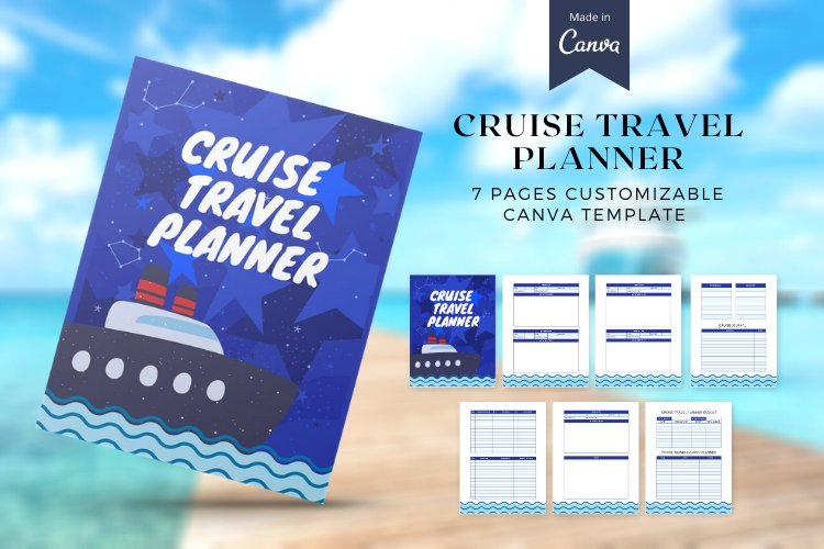 Cruise Travel Planner CUSTOMIZABLE CANVA TEMPLATE example image 1