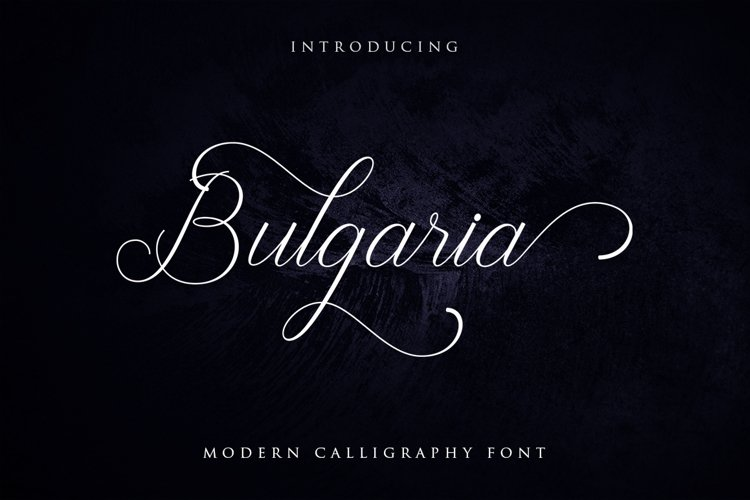 Bulgaria Font example image 1