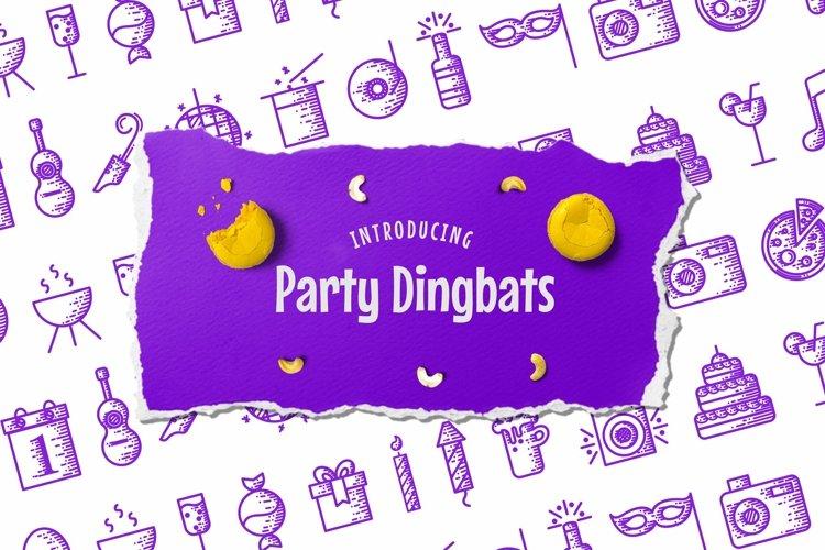 Web Font Party Dingbats Font example image 1