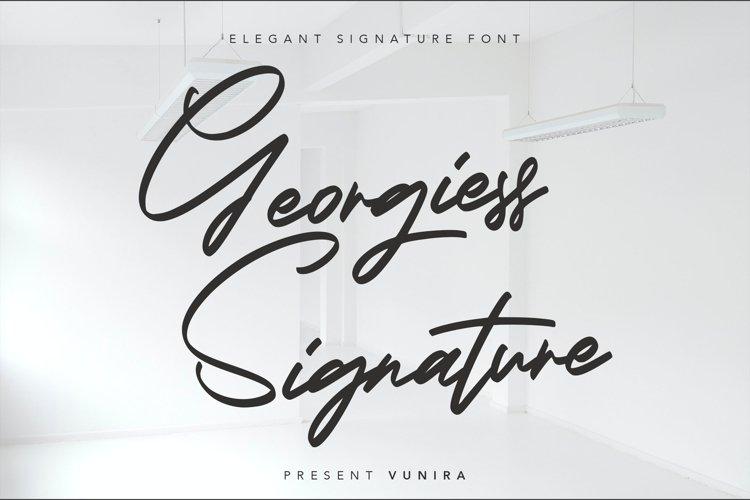Georgiess Signature | Elegant Signature Font example image 1