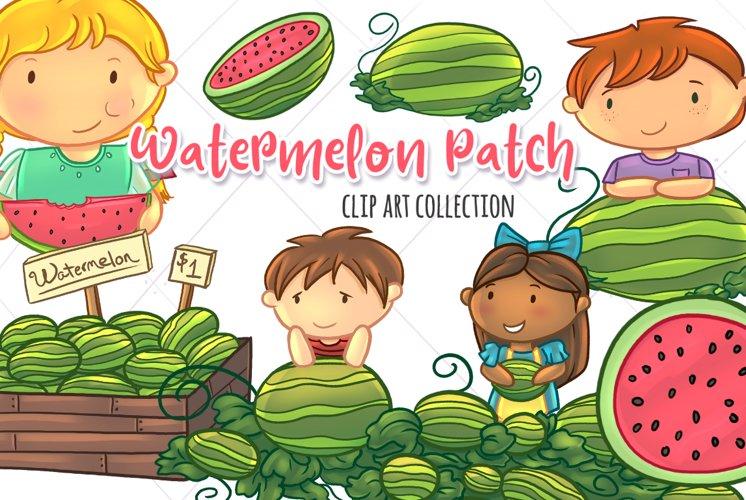 Watermelon Patch Clip Art Collection
