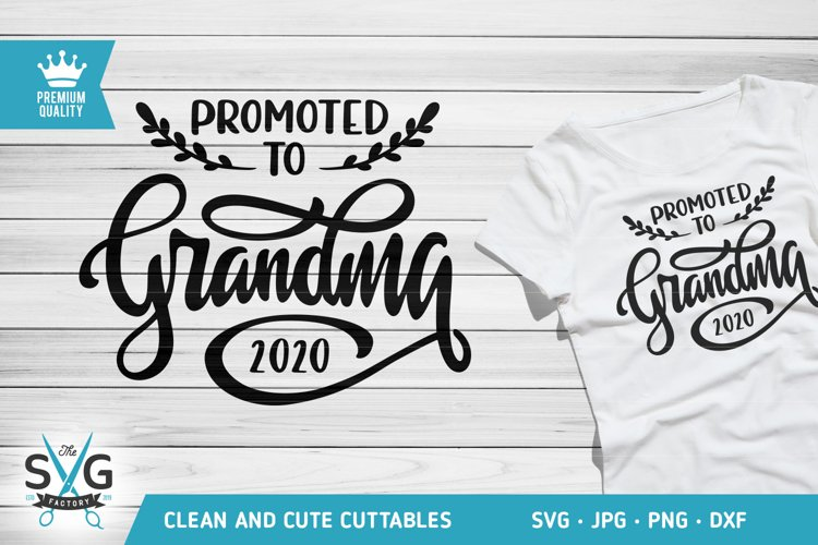 Promoted to Grandma 2020 SVG cutting file, New Grandma svg example image 1
