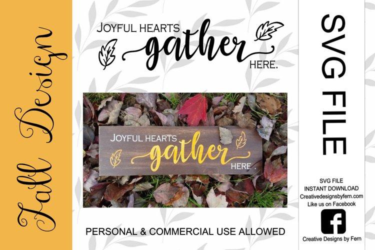 Joyful hearts gather here, SVG FILE example image 1