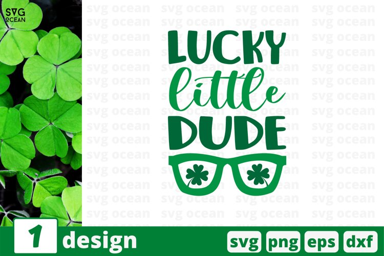 Lucky Little Dude SVG Cut File   St Patricks Day Cricut example image 1