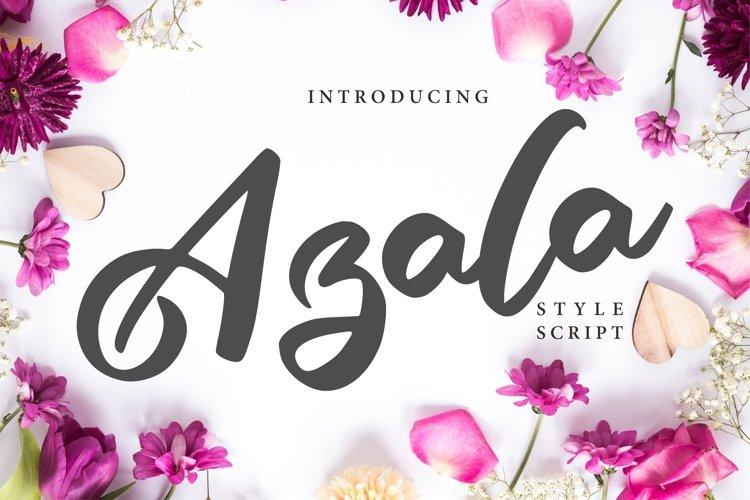 Azala   Style Script Font example image 1