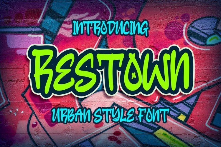 Restown - Urban Style Font example image 1