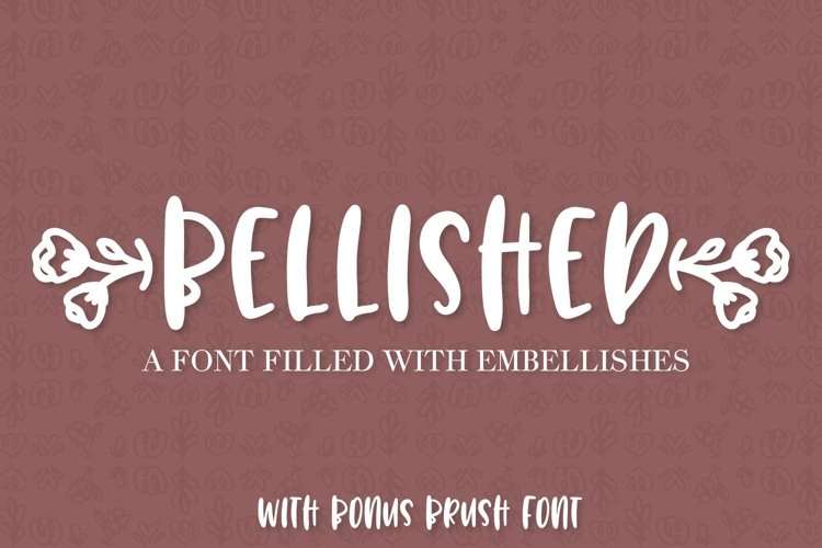 Bellished - Ornament font with bonus brush font! example image 1