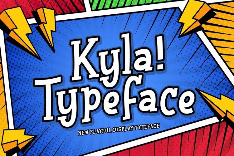 Web Font Kyla example image 1