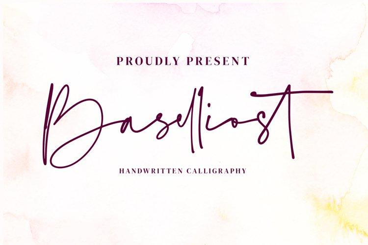 Baselliost handwritten Script font example image 1