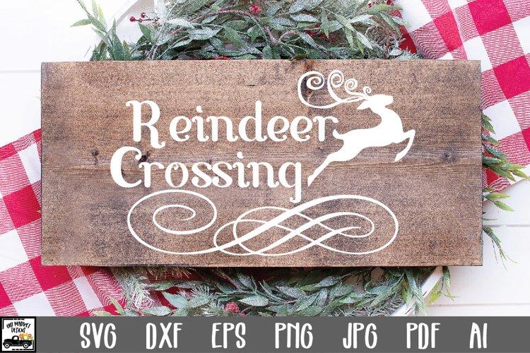 Christmas SVG Cut File - Reindeer Crossing SVG File example image 1