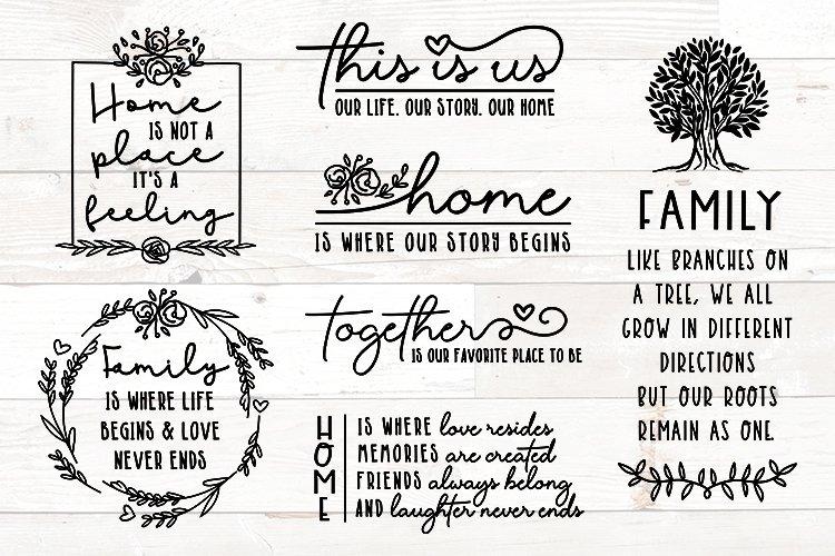 Family Sign Bundle, Family Quotes Bundle, Home Bundle svg
