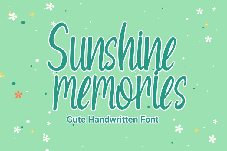 Sunshine Memories - Handwritten Font example image 1