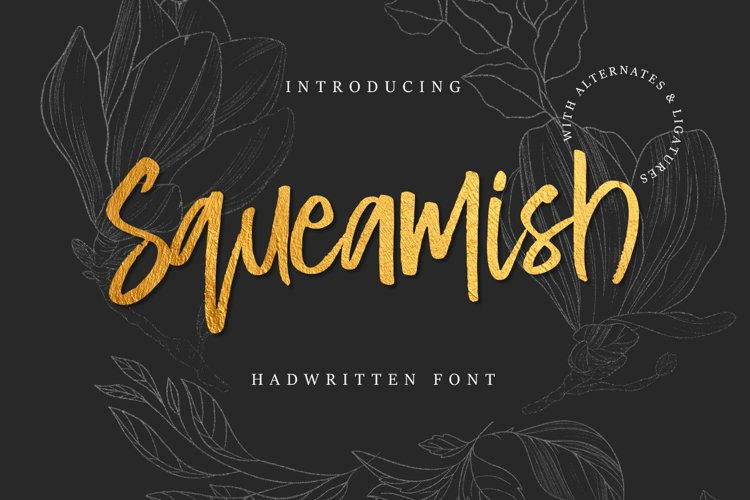 Squeamish Brush Font example image 1