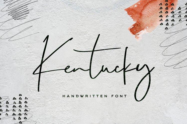 Kentucky Font example image 1