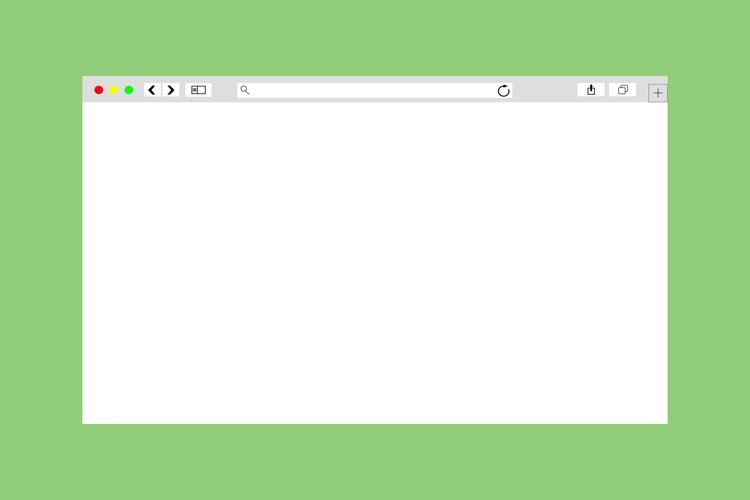 Modern browser window design isolated mockup example image 1
