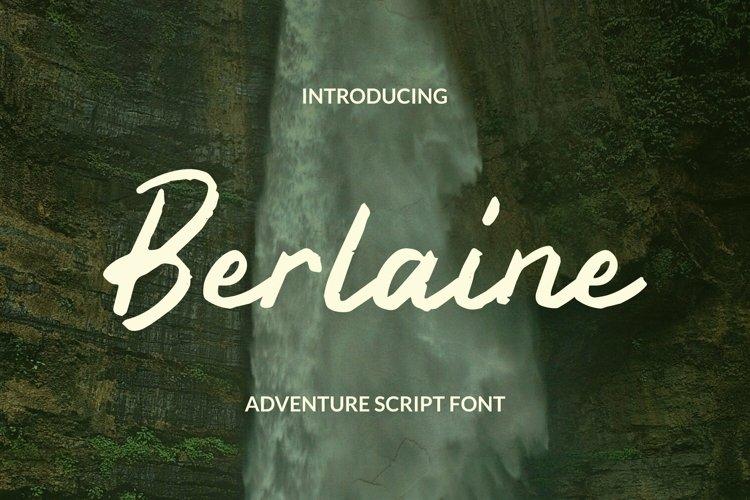 Web Font Berlaine Font example image 1