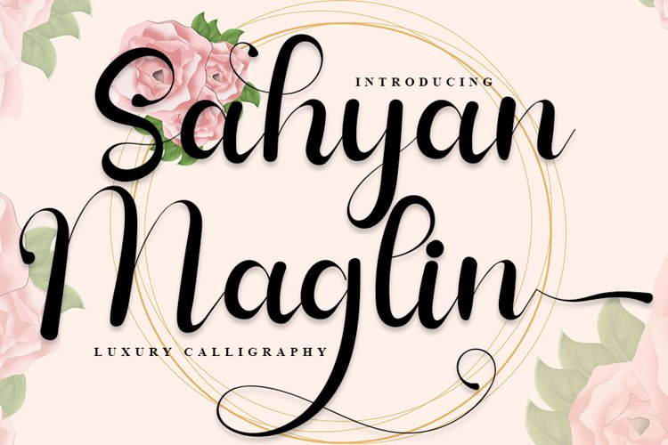 Sahyan Maglin - Luxury Calligraphy Font example image 1
