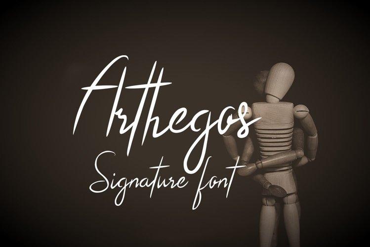 Arthegos Font example image 1