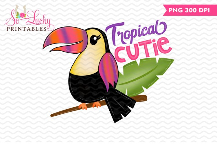 Tropical Cutie printable sublimation design example image 1
