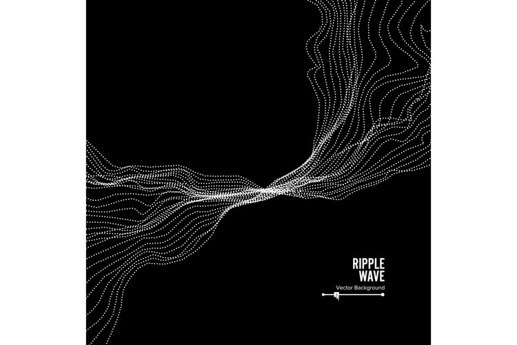 Wave Background. Ripple Grid. Vector Illustration. Water Or example image 1