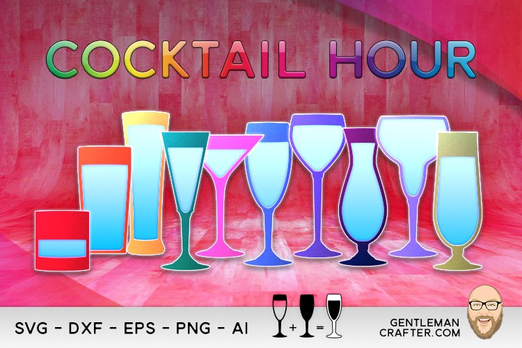Cocktail Hour Cutting File Collection example image 1
