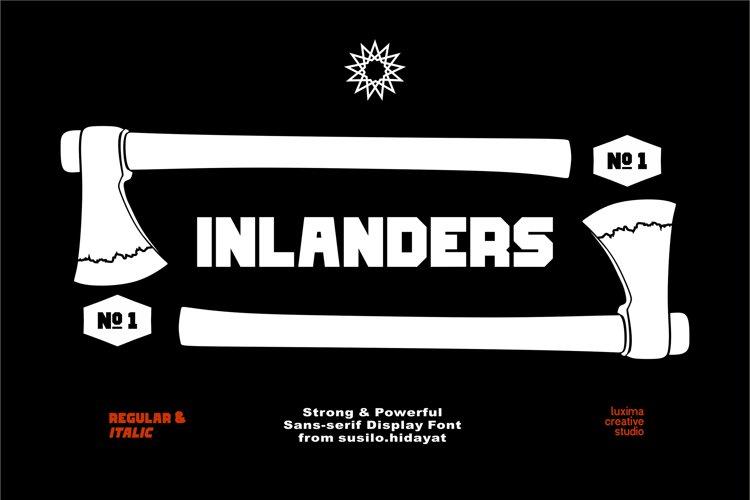 Inlanders Display Font example image 1