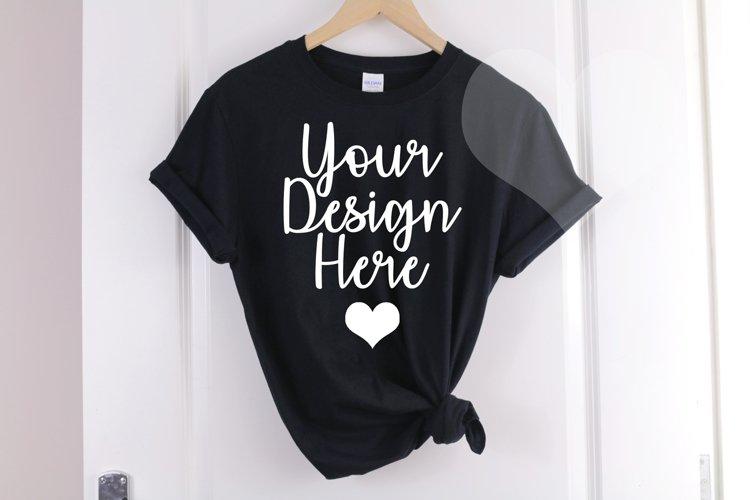 Gildan Mockup 64000 Black T shirt - Gildan Tshirt Mockup
