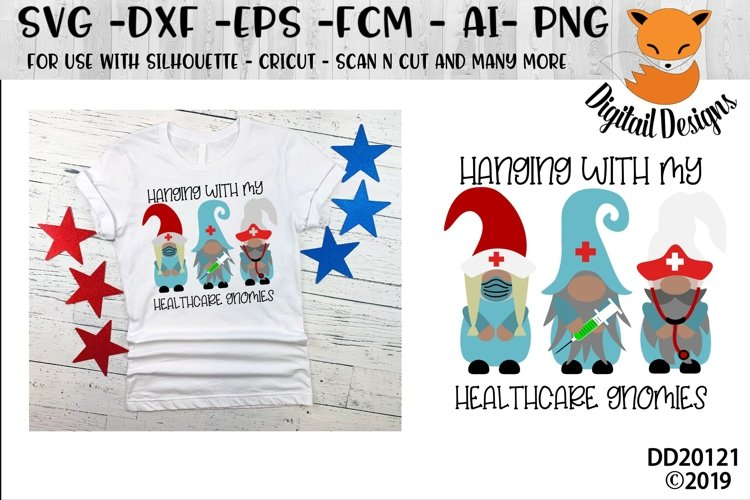 Healthcare Medical Doctor Nurse Gnomes SVG example image 1