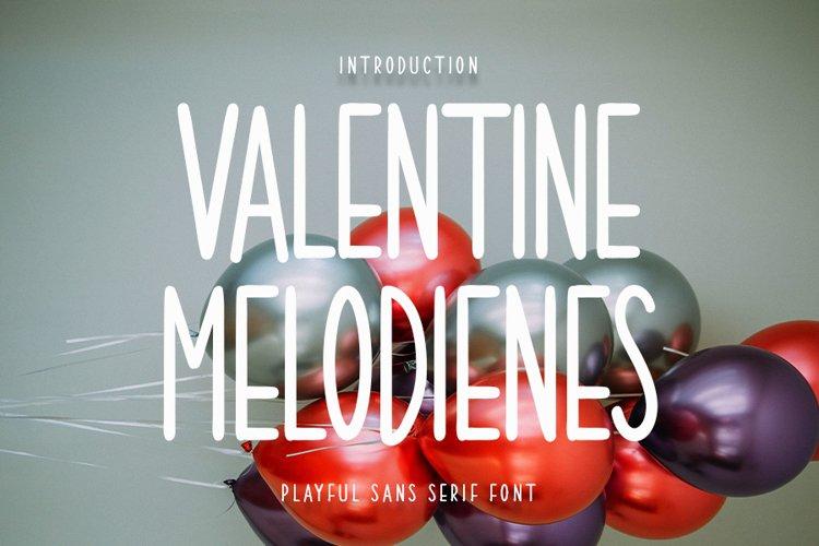 Valentine Melodienes - Modern Sans Serif Font example image 1