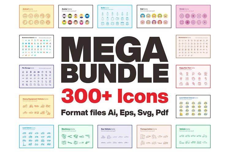 Mega Bundle 300 Icons example image 1
