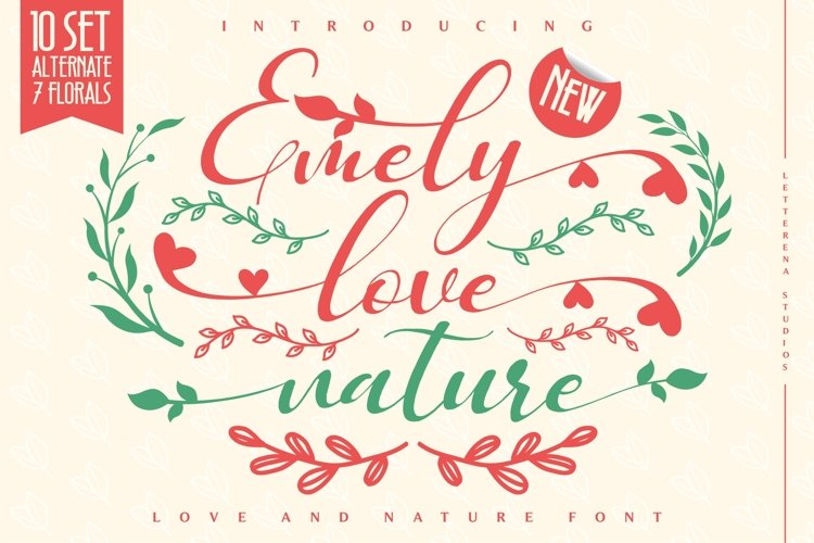 Emely love nature - Love and Nature Font example image 1