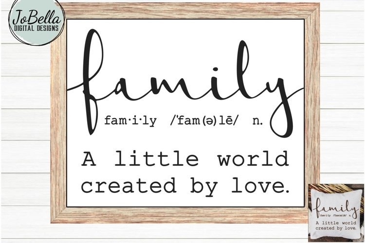 Family SVG and Printable - Farmhouse Definition example image 1