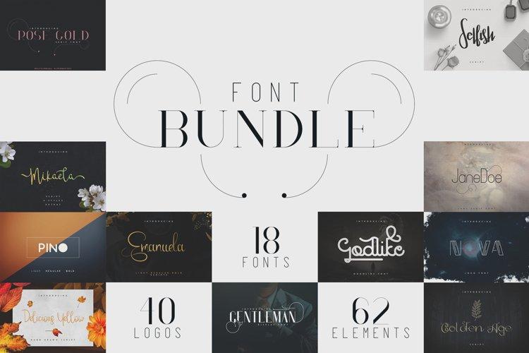 18in1 Font Bundle + Bonus | 87% off