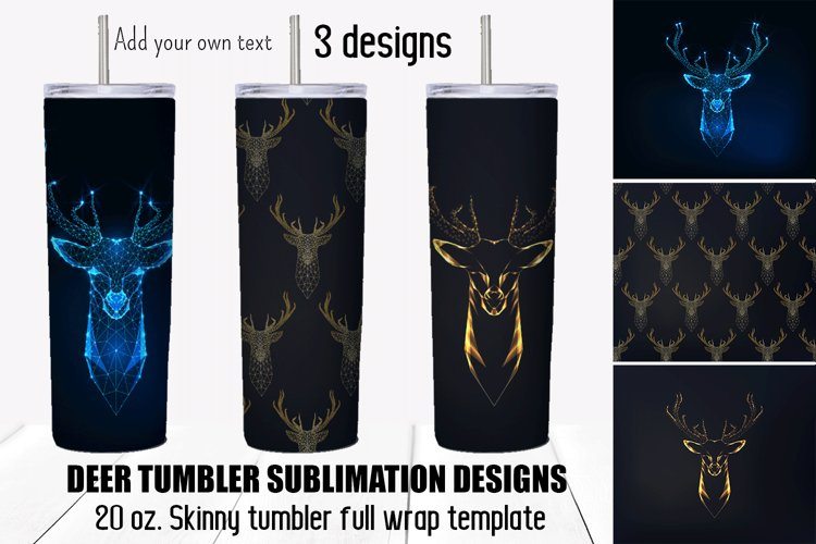 Deer tumbler sublimation designs. Fathers Day gift. Hunting