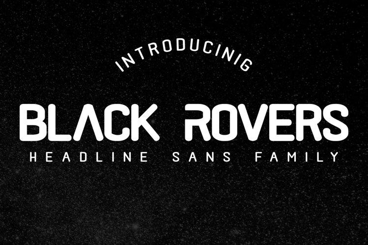 Black Rovers - headline sans family example image 1