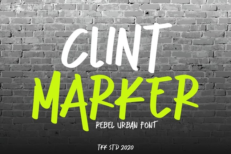 Clint Marker - Brush Graffiti Font example image 1