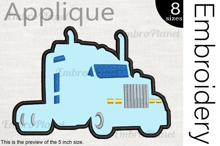 Applique Truck - Embroidery Files - 1494e example image 1