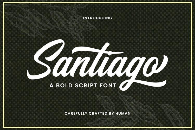 Web Font Santiago example image 1