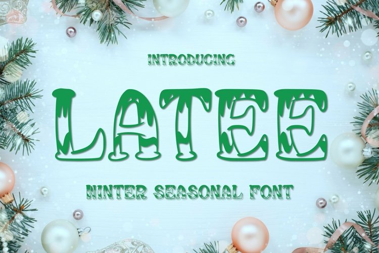 Web Font Latee Font example image 1