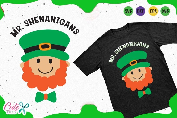 Mister Shenanigans svg, St. Patrick day Files for crafters example image 1
