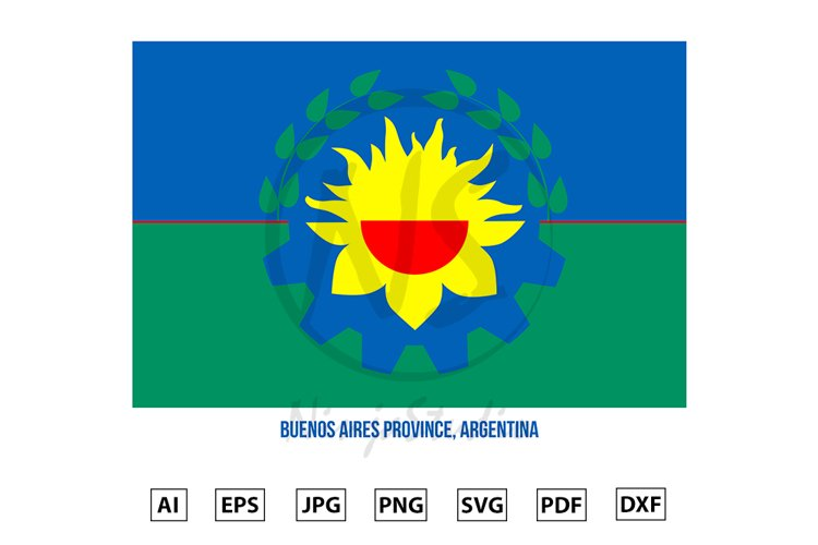 Buenos Aires Flag of Argentina Provinces example image 1