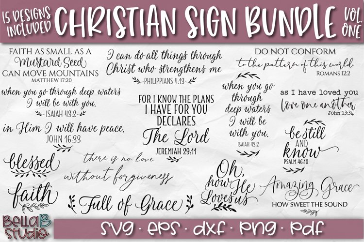 Christian Quotes SVG Bundle, Christian SVG Cut Files