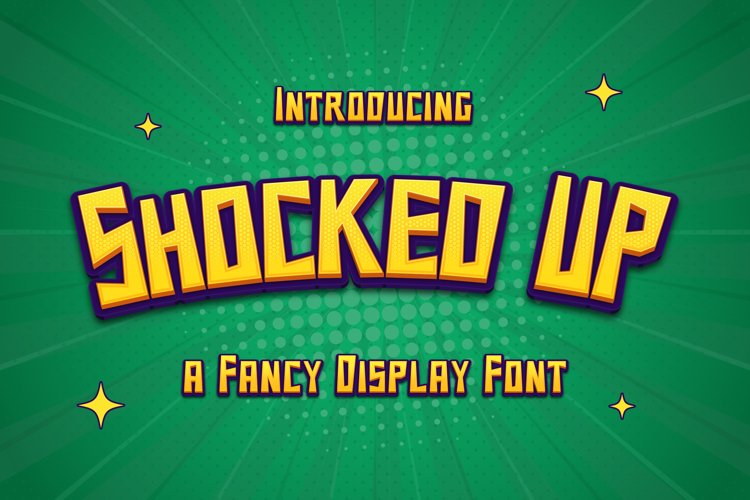 Shocked Up - A Fancy Display Font example image 1
