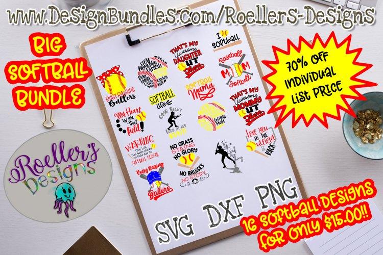 Softball Bundle, Big Softball Bundle SVG, Softball Mom example image 1