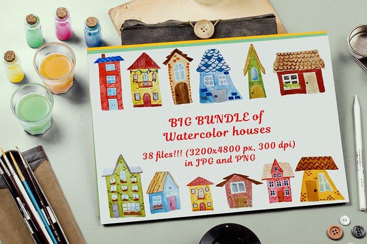 BIG bundle of Watercolor houses