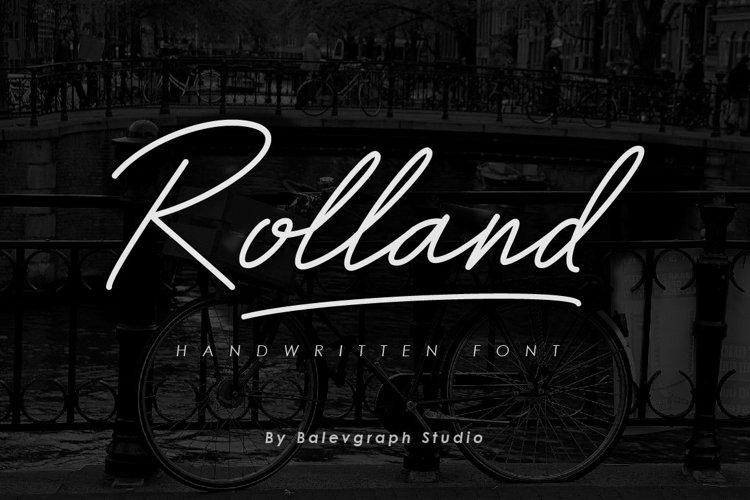 Rolland Handwitten Font example image 1