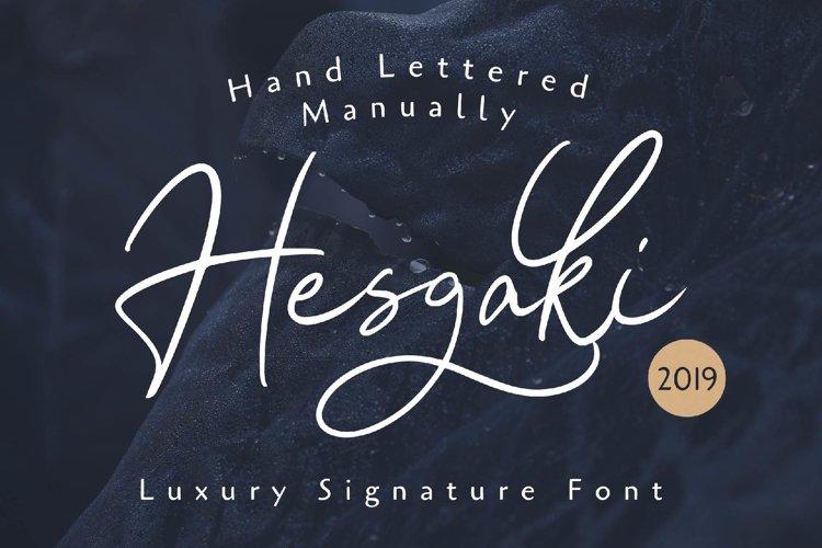 Hesgaki - Luxury Signature Font example image 1