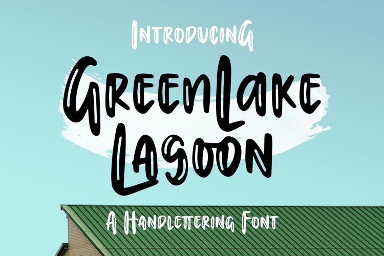 Greenlake Lagoon - Handlettering Font example image 1