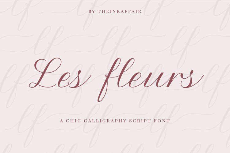Les Fleurs, a calligraphy script font example image 1