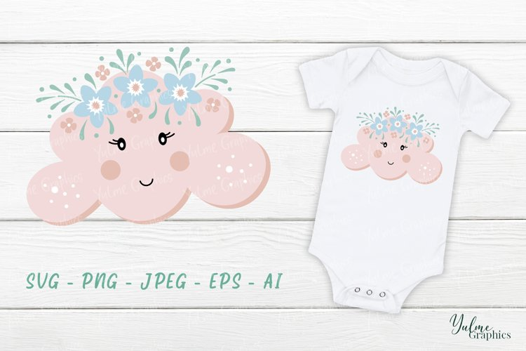 Cloud SVG. Baby SVG. Baby Girl SVG. Nursery SVG. Cute SVG.